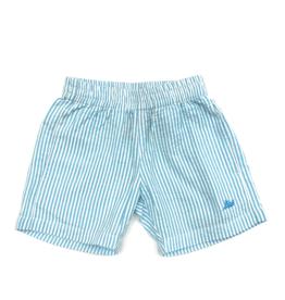 SouthBound Blue Seersucker Elastic Waistband Shorts