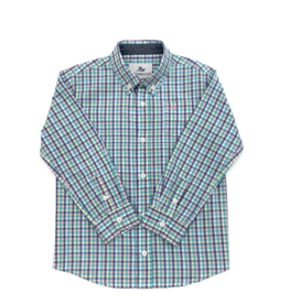 SouthBound Pastel Multi Colored Plaid Long Sleeve Shirt