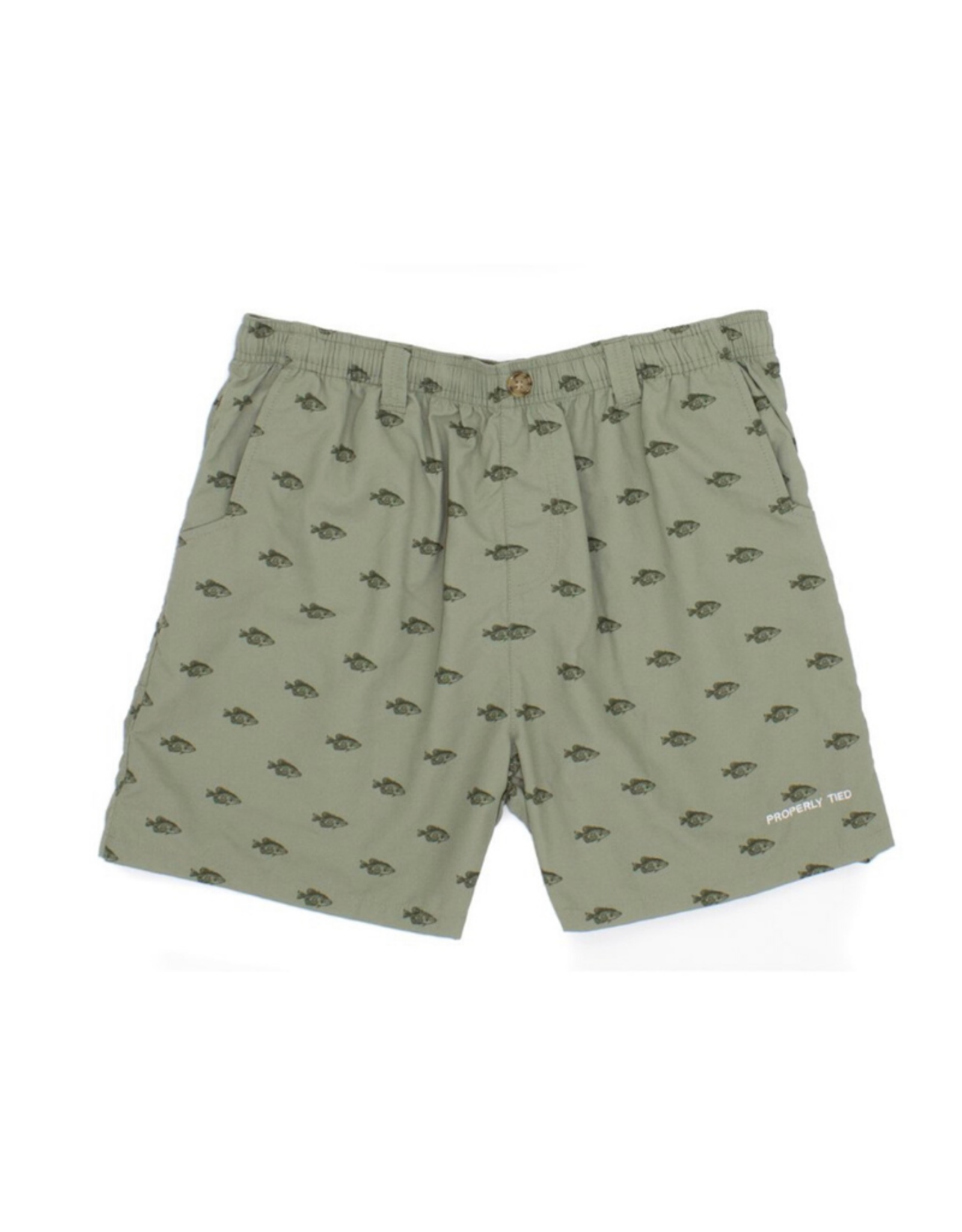 Properly Tied Mallard Shorts Crappie Olive With Fish
