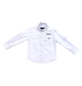 Properly Tied Polar White Fishing Shirt