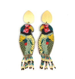 Allie Beads Beaded Parrot Earrings
