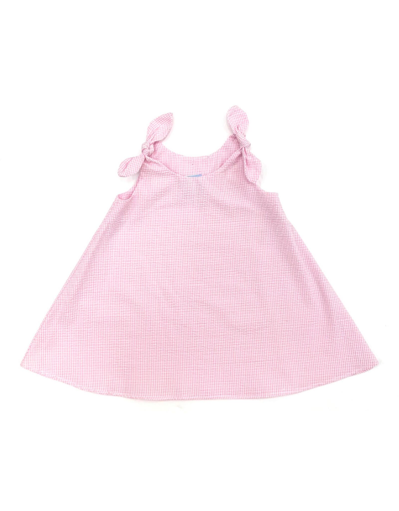 Funtasia Too Pink Swing Dress Tie Shoulder