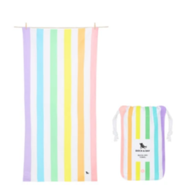 Dock & Bay Unicorn Waves Striped Quick Dry Towel