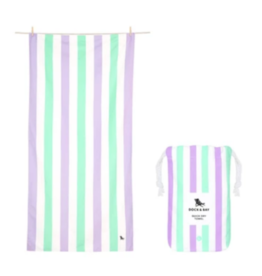 Dock & Bay Lavender Fields Striped Quick Dry Towel