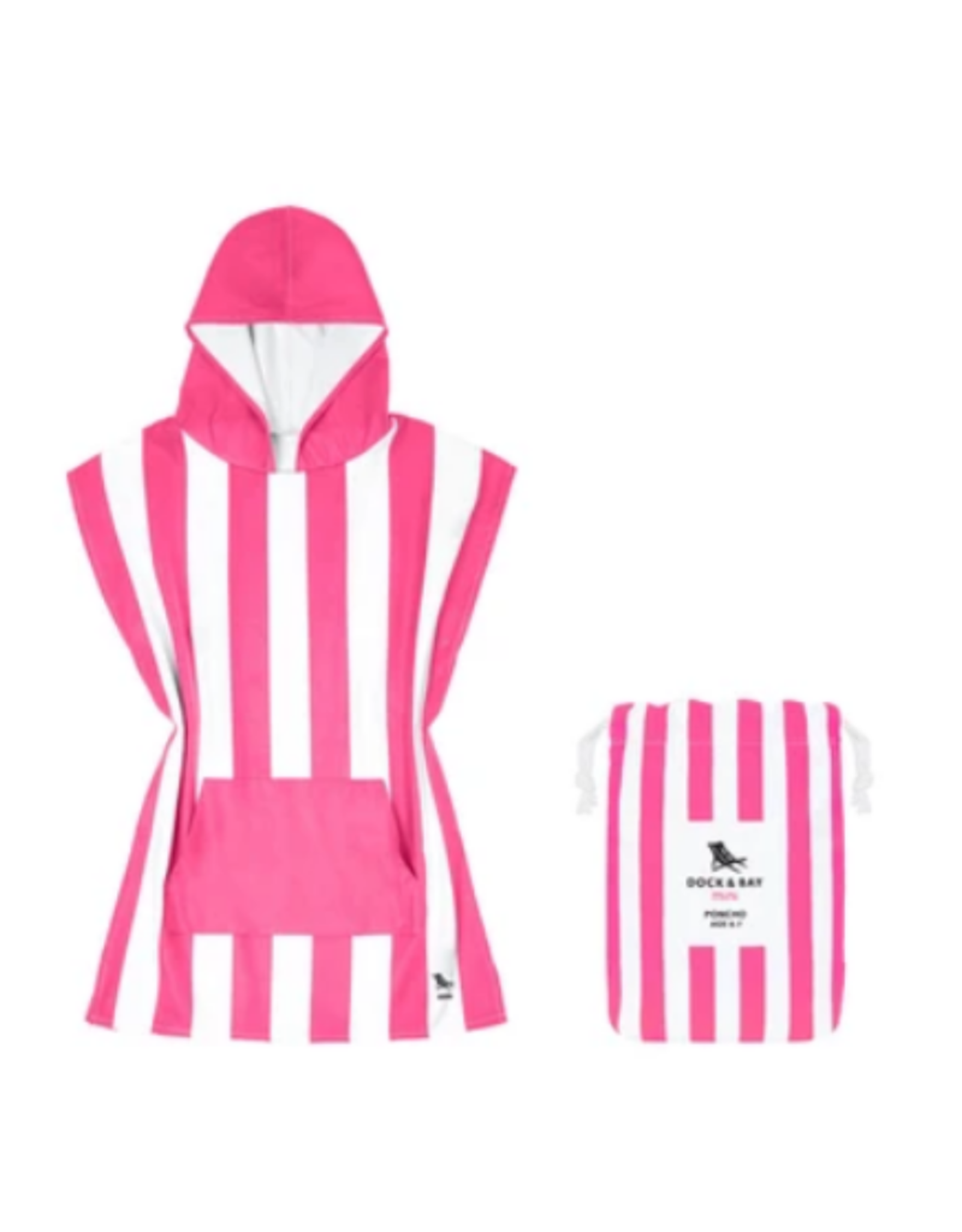 Dock & Bay Kids Phi Phi Pink Quick Dry Poncho