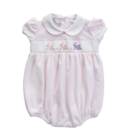 Magnolia Baby Pink Easter Bunny Smocked Bubble