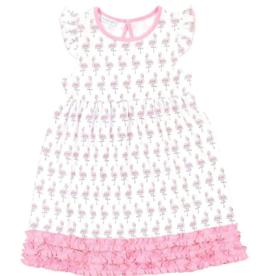 Magnolia Baby Flamingo Dress With Ruffles
