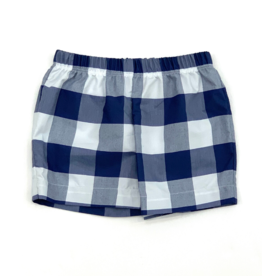 Bon Temps William Navy Buffalo Check Shorts