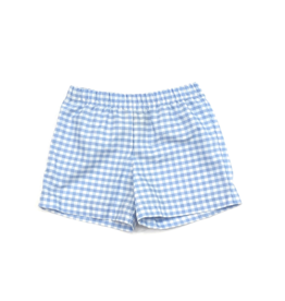 Bon Temps William Peri Blue Gingham Shorts