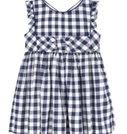 Mayoral Black and White Gingham Dress