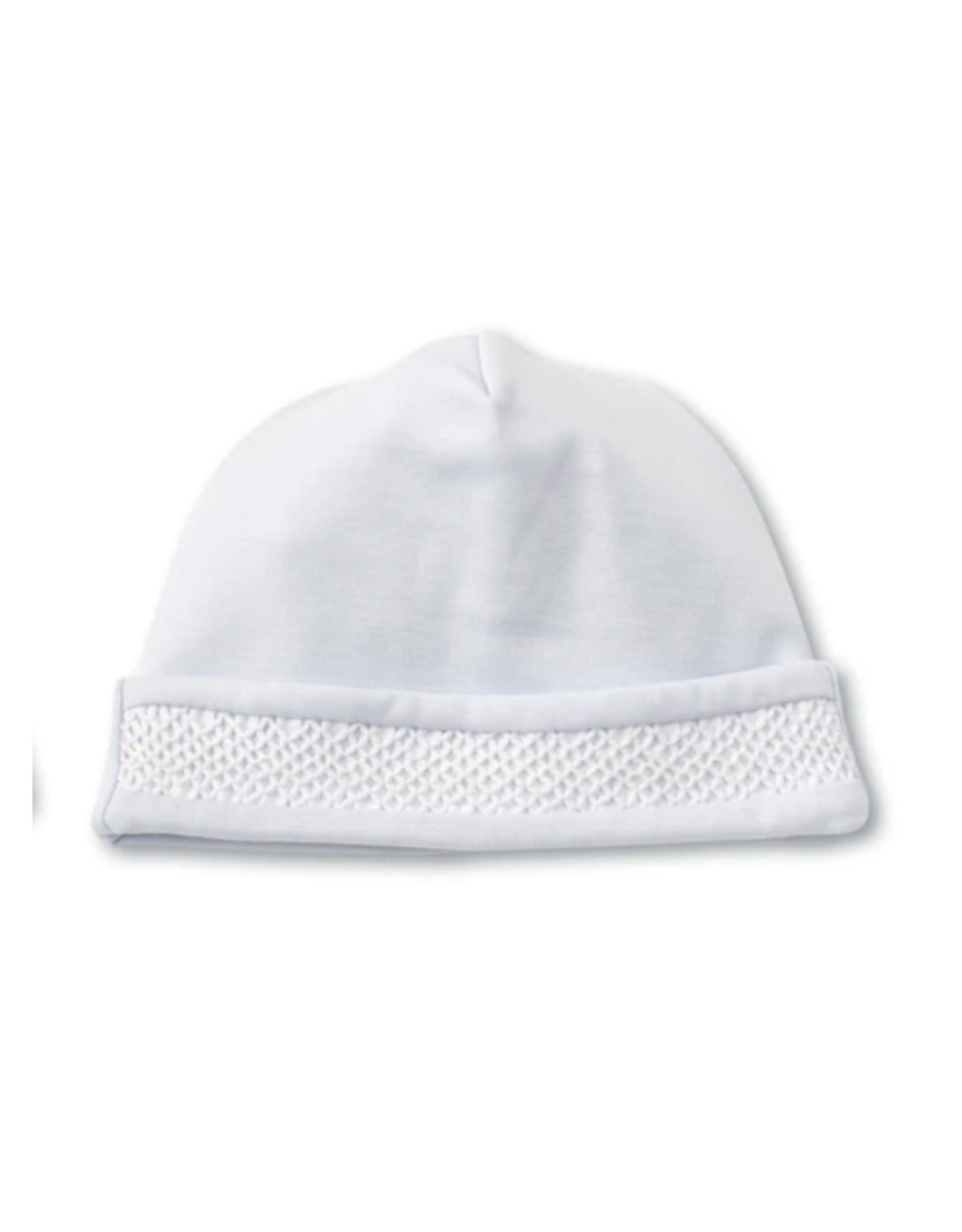 Kissy Kissy Light Blue Crochet trim hat