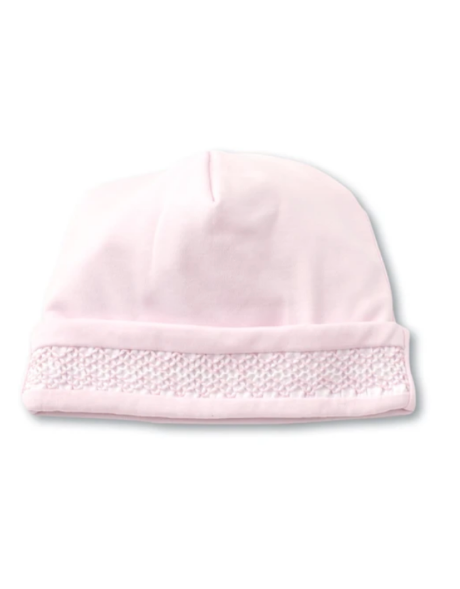 Kissy Kissy Light Pink Crochet Trim Hat