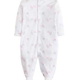 Little English Pink Bunny Footie