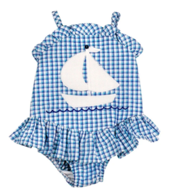 The Bailey Boys 1 Piece Ship Ahoy Swimsuit With Ruffle
