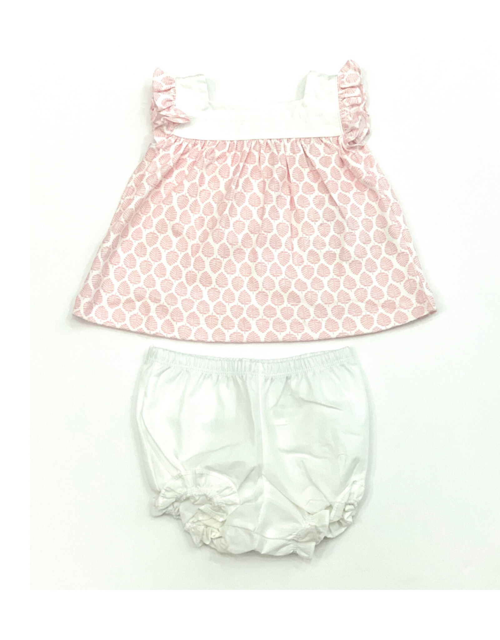 Lila and Hayes Annie Pink Palms Bloomer Set