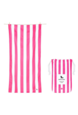 Dock & Bay Phi Pink Cabana Striped Quick Dry Towel