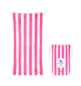 Dock & Bay Phi Pink Cabana Striped Quick Dry Towel
