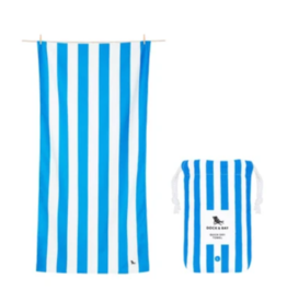 Dock & Bay Bondi Blue Cabana Striped Quick Dry Towel