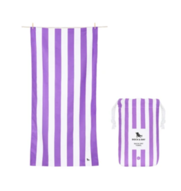 Dock & Bay Brighton Purple Cabana Striped Quick Dry Towel