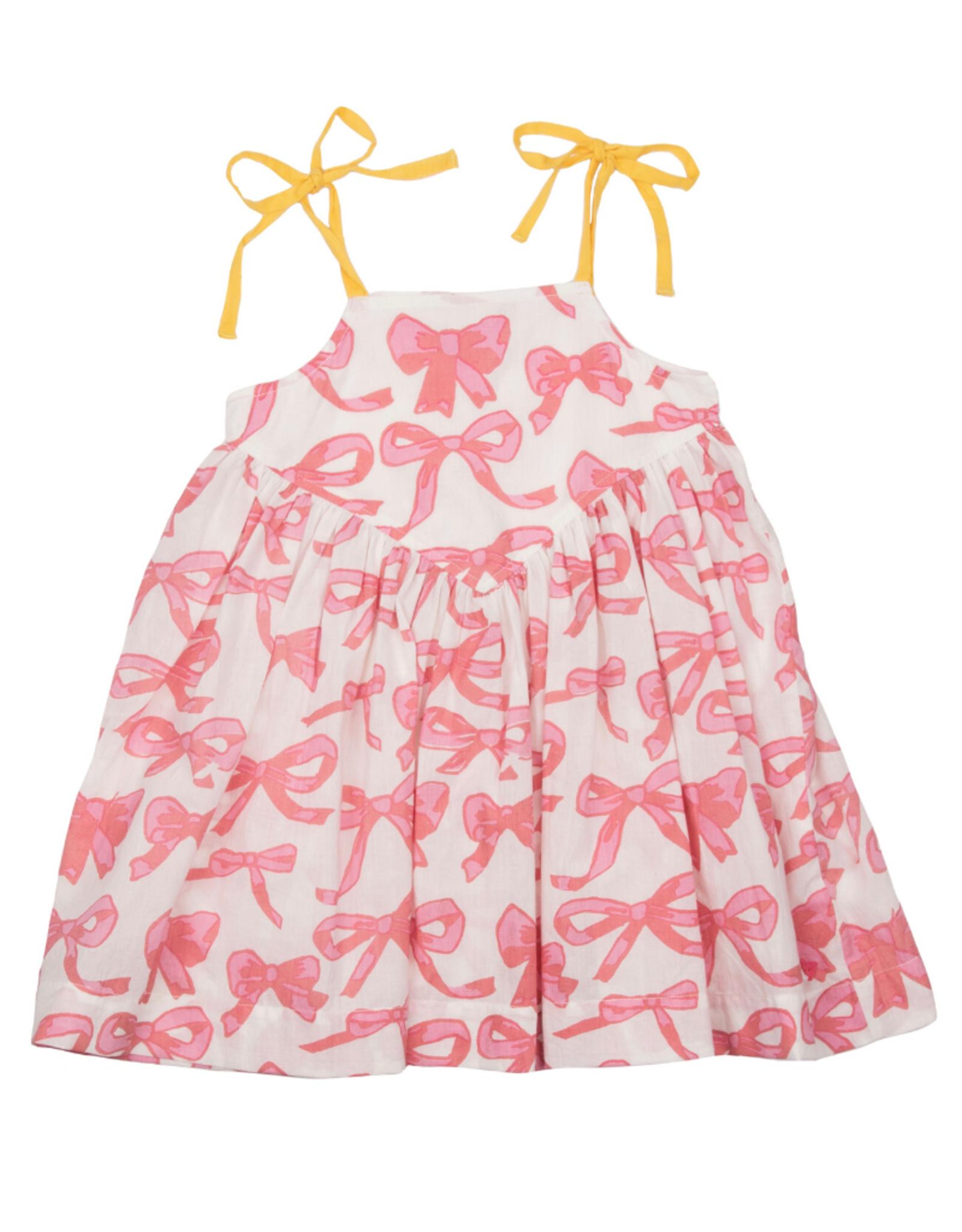 Pink Chicken Monroe Mauveglow Bow Dress