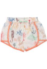 Pink Chicken Millie Multi Sea Creature Shorts