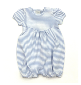 Squiggles Girls Blue And White Striped Bubble