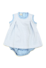 Squiggles Blue and White Striped Dressy Bubble Boys