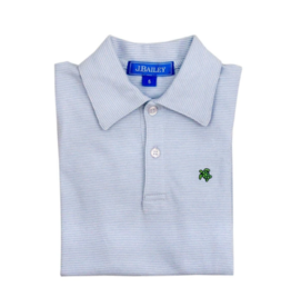 The Bailey Boys Lt Blue Stripe Polo