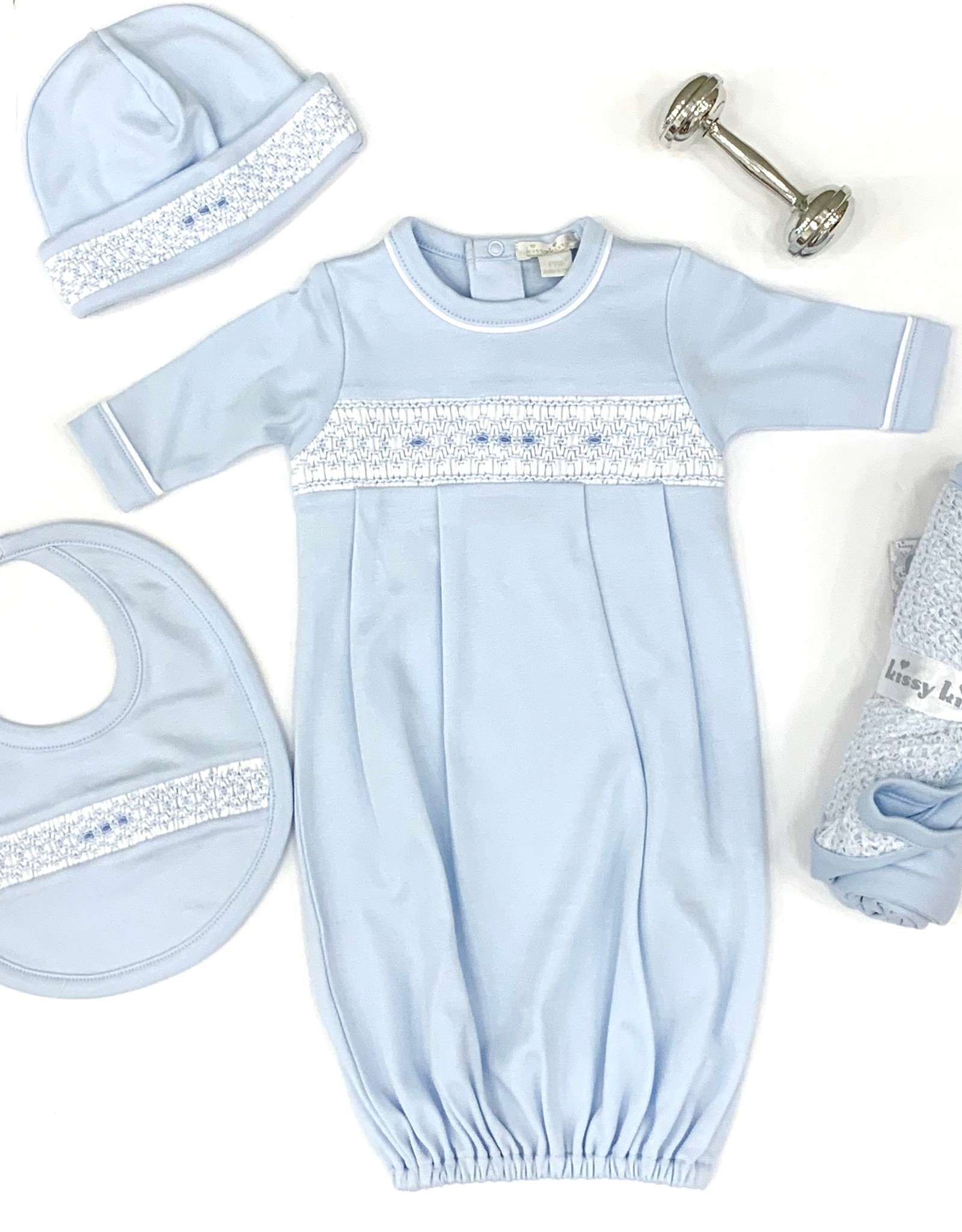 Kissy Kissy KK Blue bib with hand smock