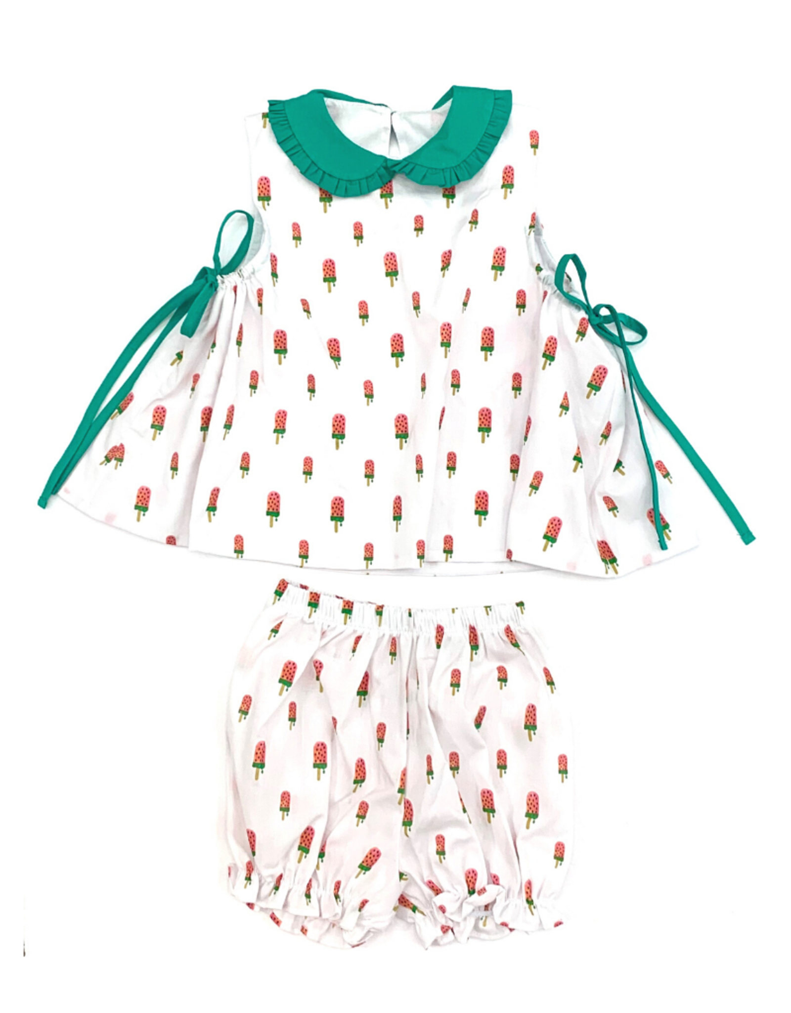 James and Lottie Frannie Watermelon Banded Short Set