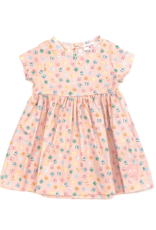 Smiling Button Pink Presents Sunday Dress