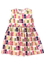 Smiling Button Puddle Jumping Pinny Dress