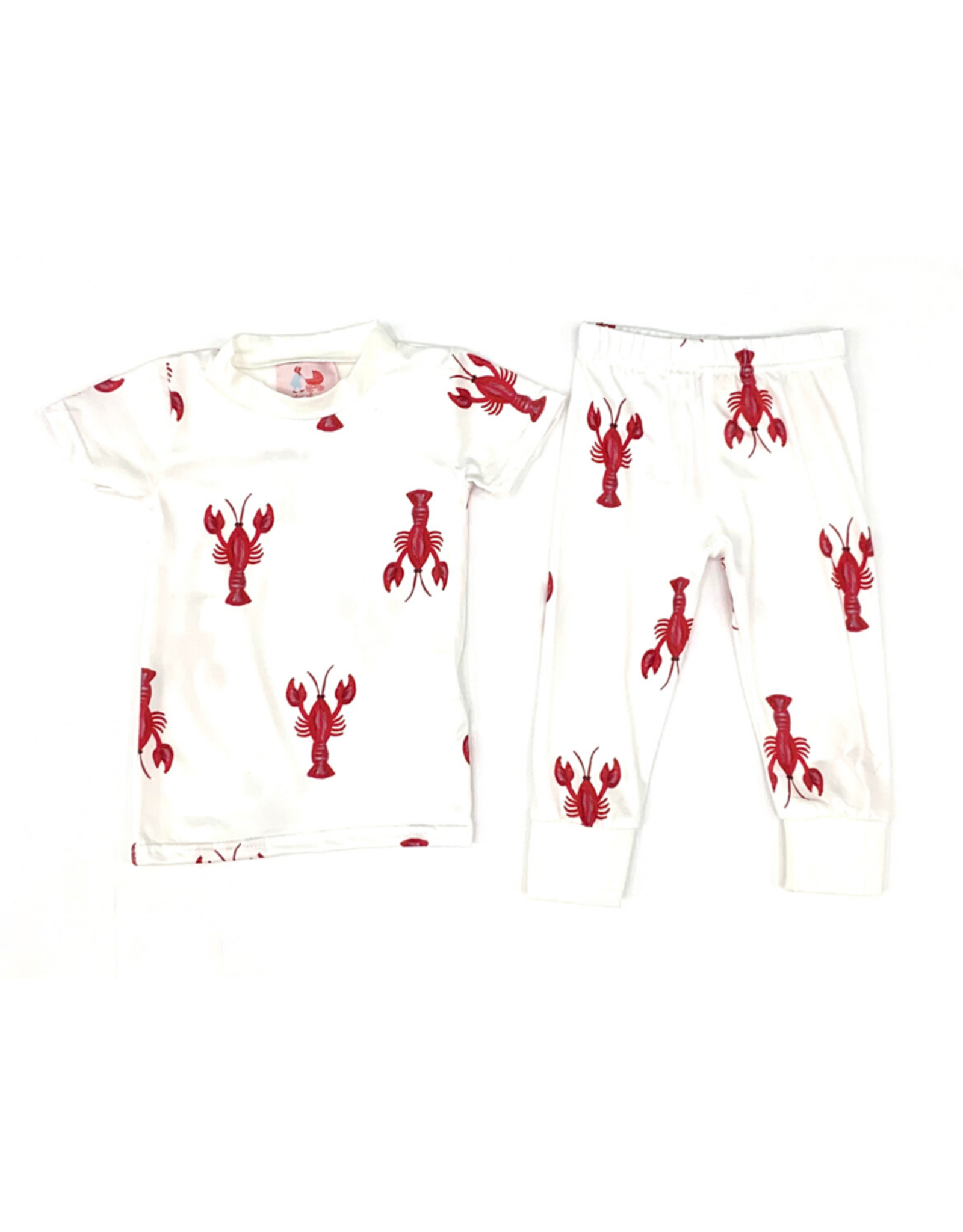 Little Louanne Crawfish Short Sleeve Pajama Set