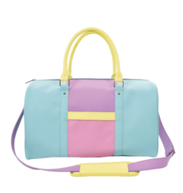 Iscream Colorblock Faux Leather Duffle Bag