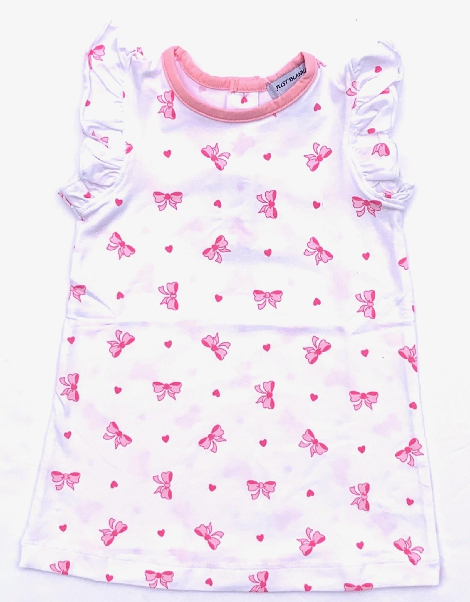 Ishtex Bow and Heart Angel Sleeve Dress