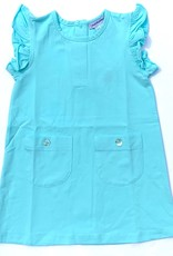Aqua dress with pockets