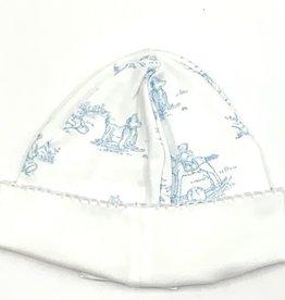 Nella Blue Toile Hat