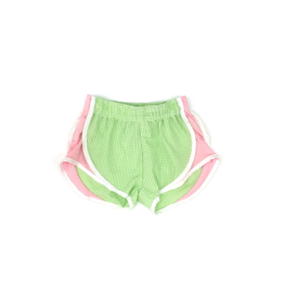 Funtasia Too Lime check with pink side shorts