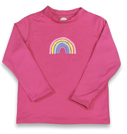 Honey Bee Tees Rainbow Rash Guard Pink
