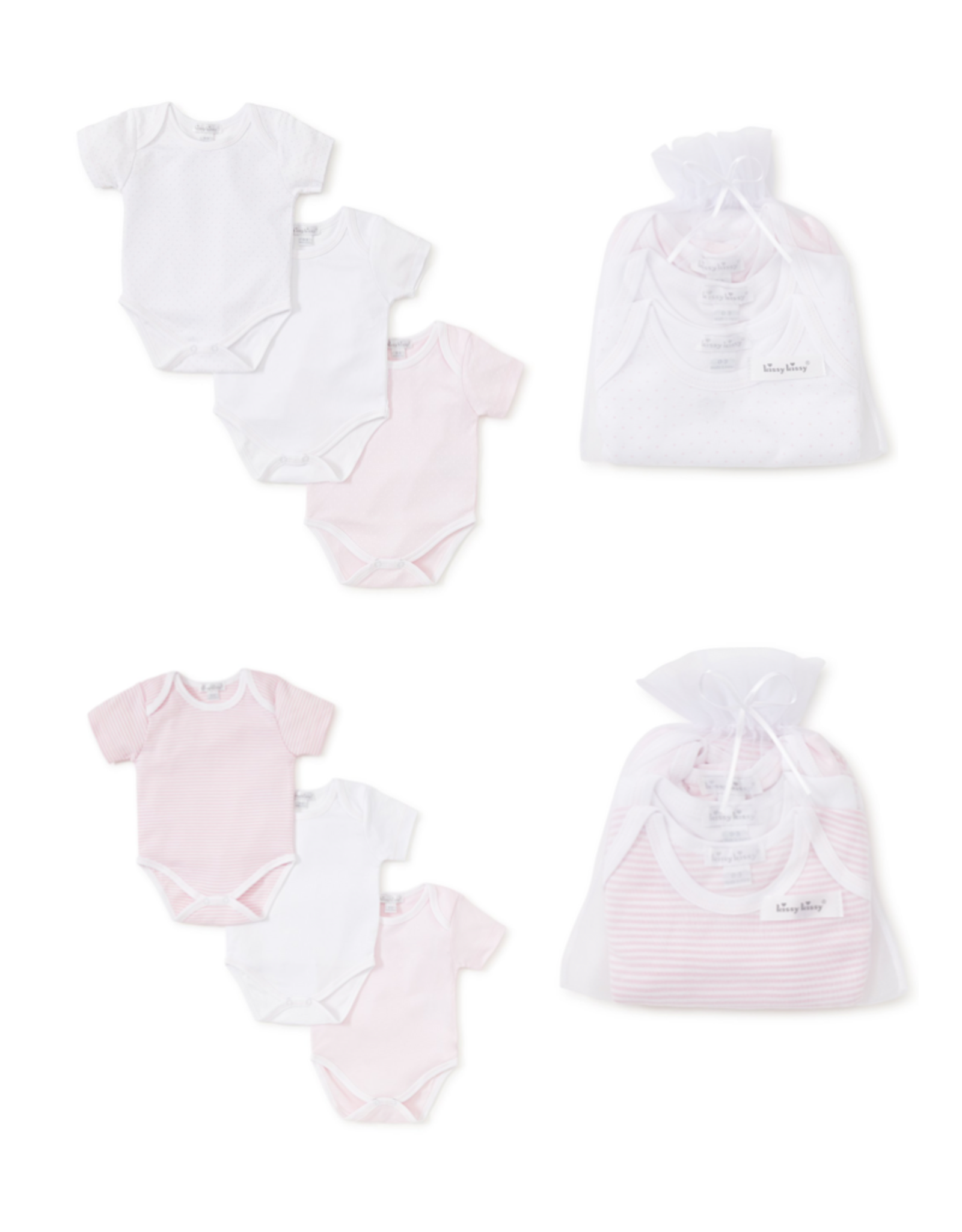 Kissy Kissy Kissy 3 Pack Girl Bodysuit
