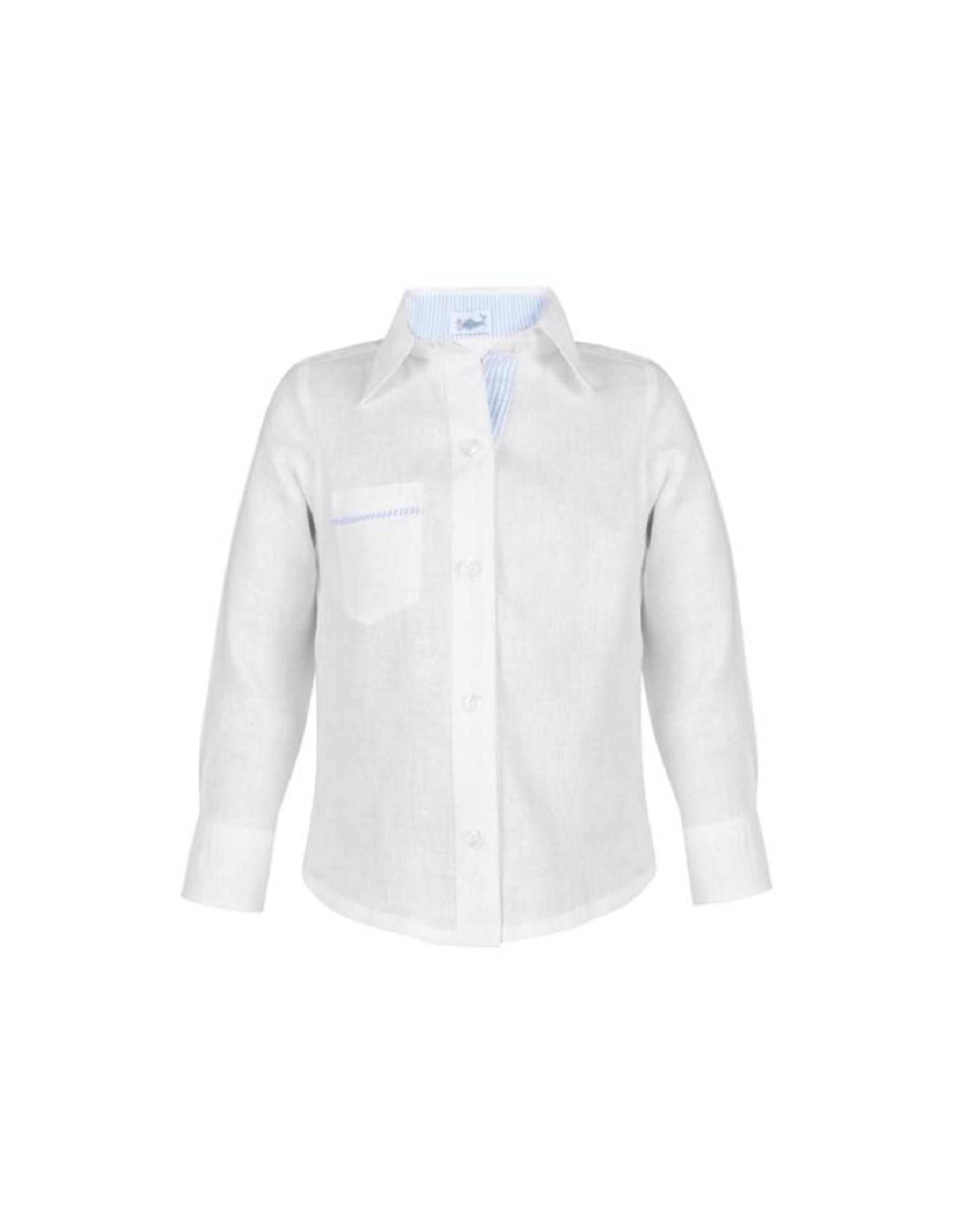 Daniel Boy Shirt White With Blue Stripes