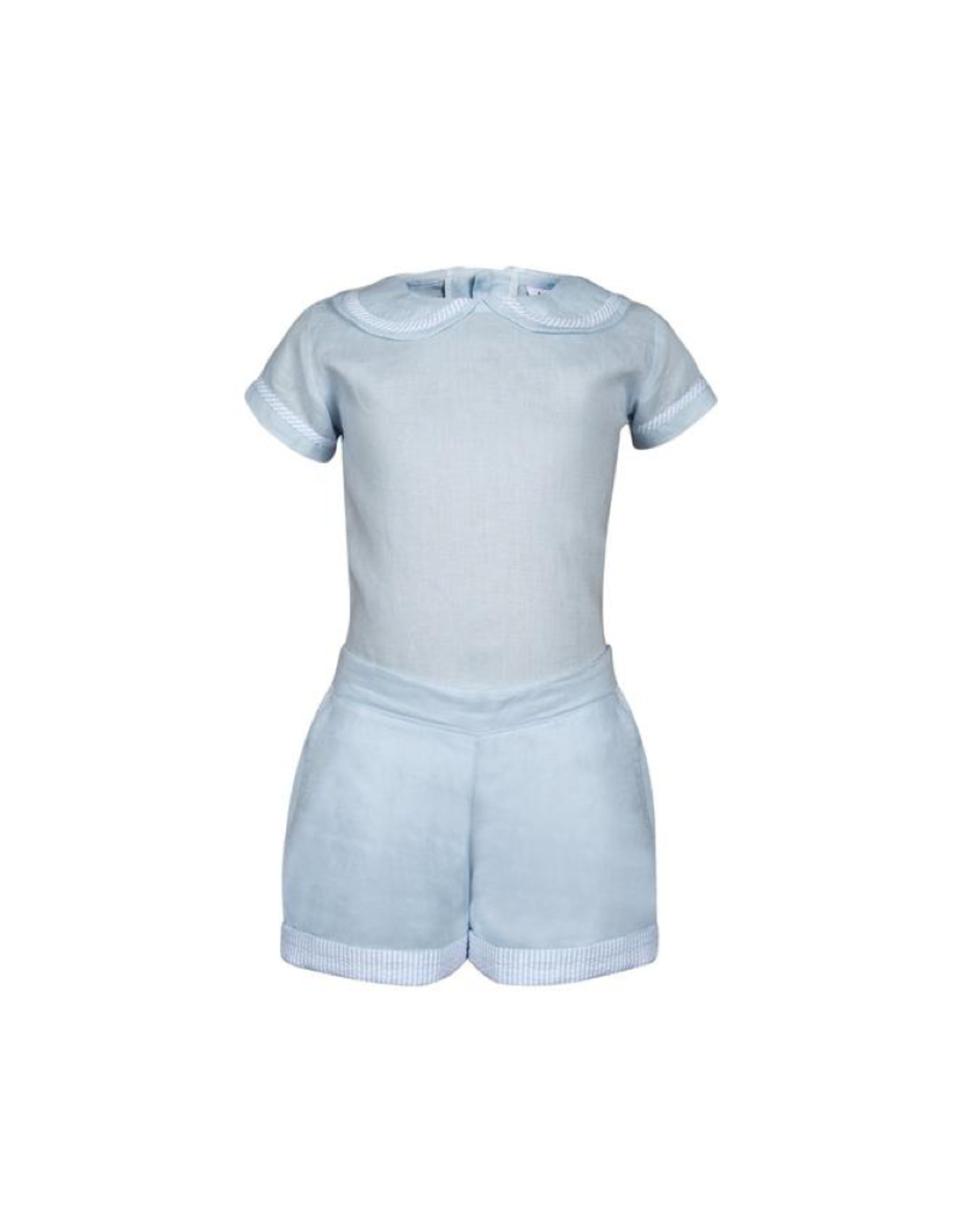 Baliene Pascale Boy Set Baby Blue With Stripes