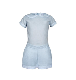 Pascale Boy Set Baby Blue With Stripes