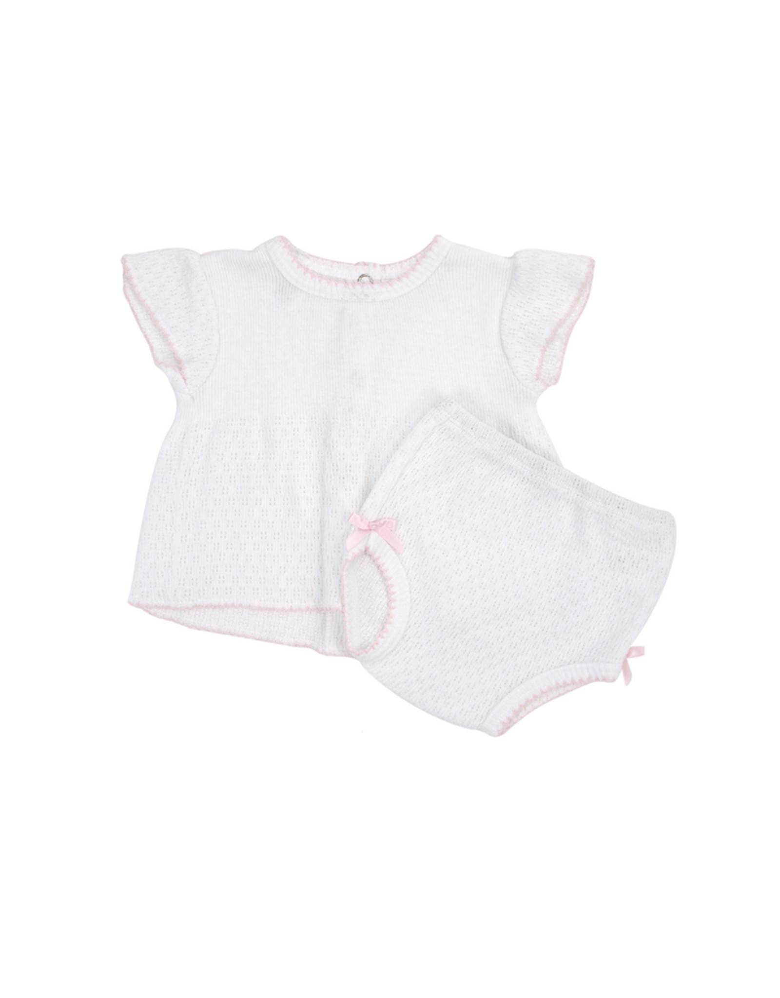 Paty Paty Diaper Set With Pink Trim