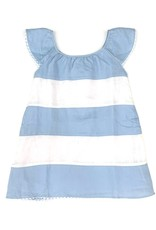 Baliene Madeline Girls Dress Baby blue And White