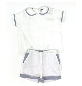 Baliene Pascale Boy Set White With Navy Stripes