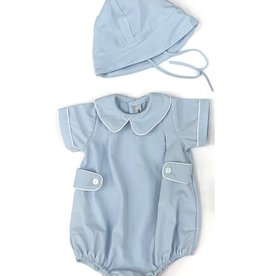 Sweet Dreams Blue Hemstitch Infant Set