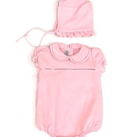 Sweet Dreams Pink Hemstitch Infant Set