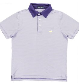 Southern Marsh Striped Performance Polo
