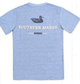 Southern Marsh Performance Logo Shirt Blue